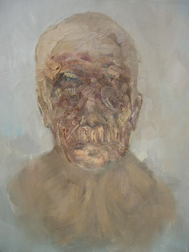 X, marzo 2006; olio su tela, 39x31 cm.