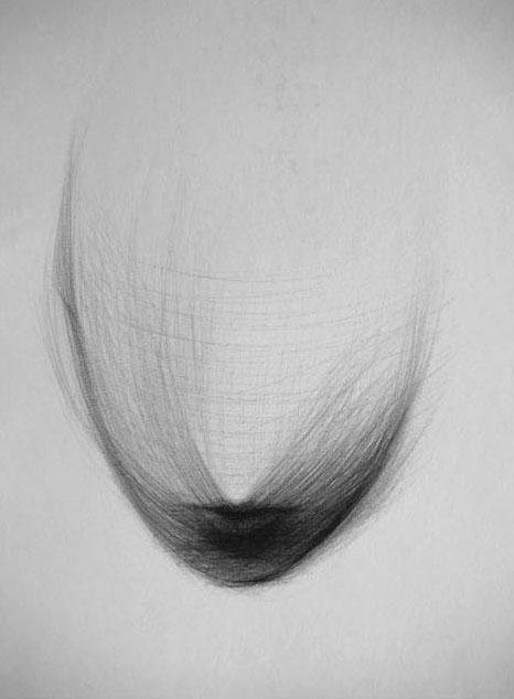 S.T, 2004; biro su carta intavolata, 29,7x21 cm.