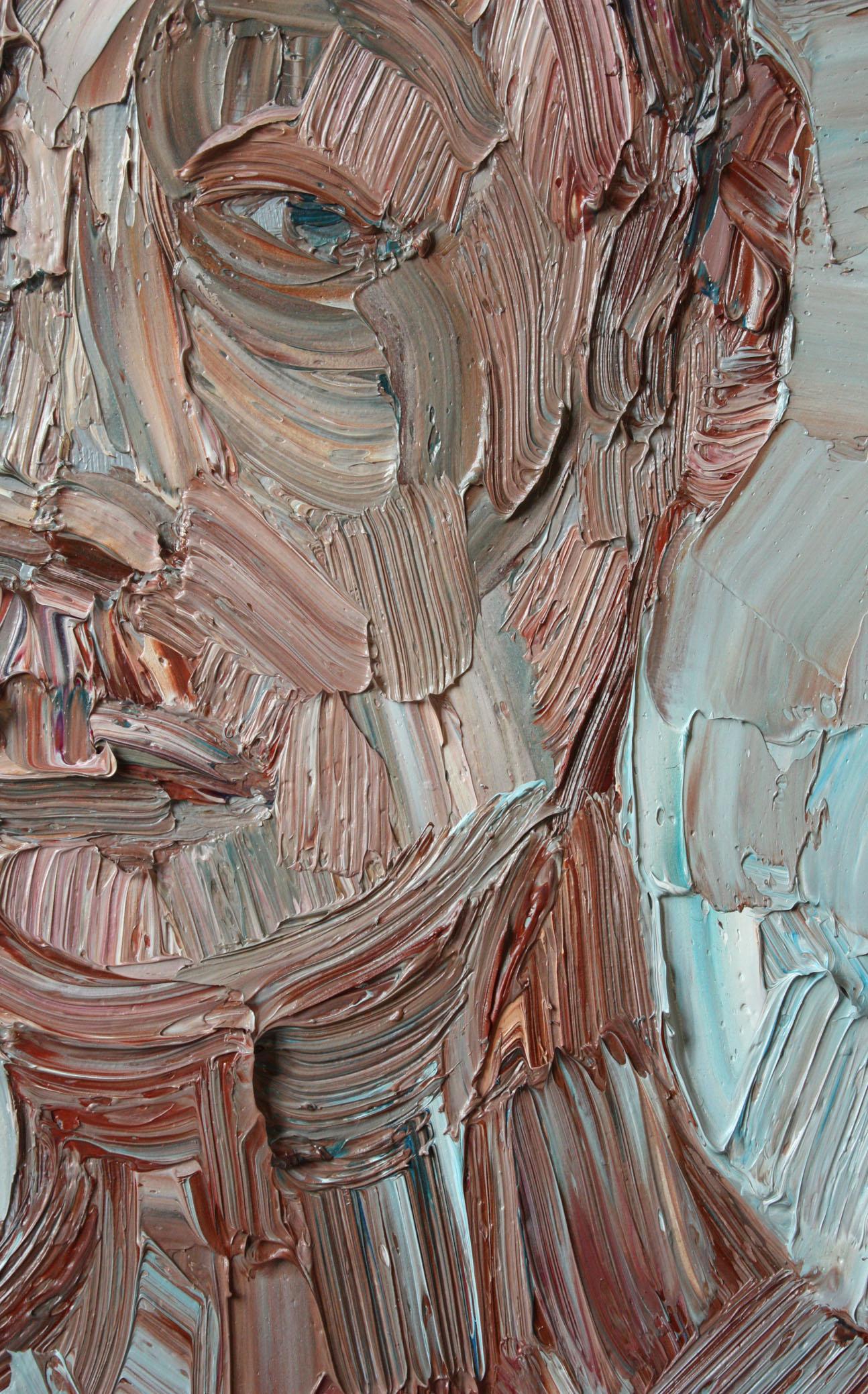 17. gennaio 2010, particolare; olio su tela,  27x20cm.