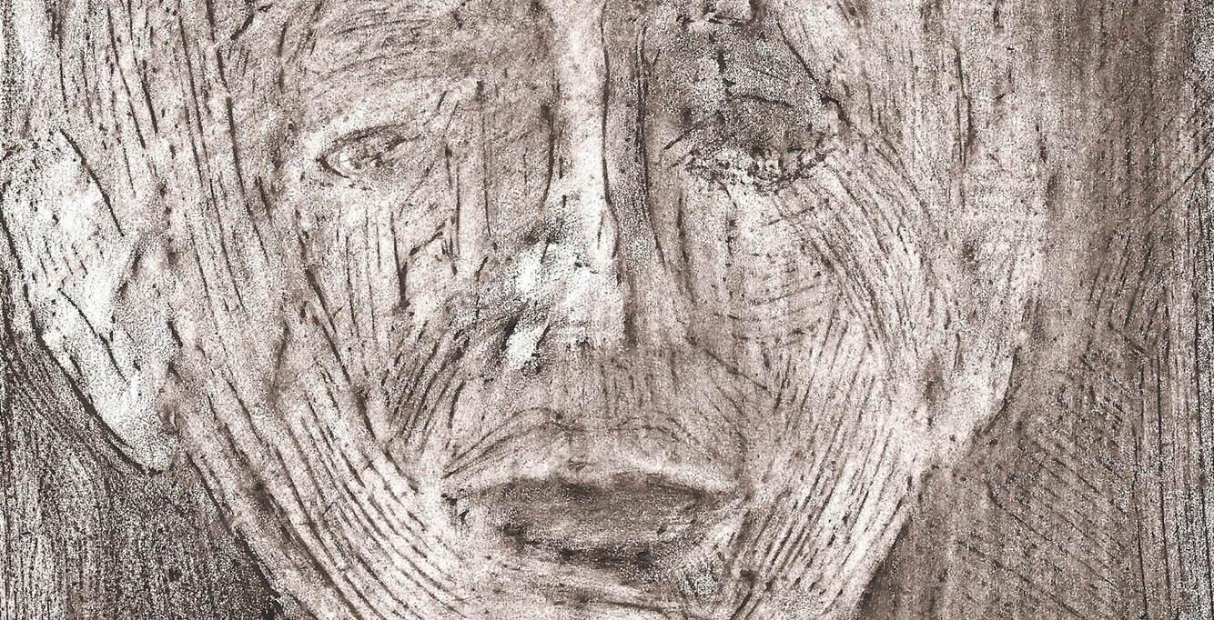 31. Come il tempo, sottile e inesorabile, 2011; frottage di dipinto su carta, 27x21 cm.