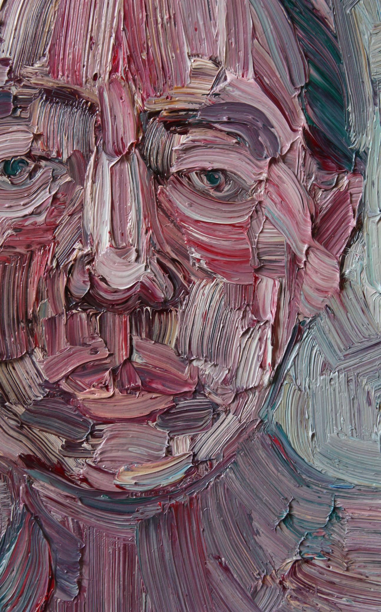 33. febbraio 2011, particolare; olio su tela, 27x20 cm.