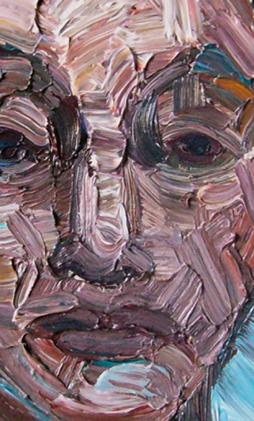 LVI, settembre 2007, particolare; olio su tela, 39x31 cm.