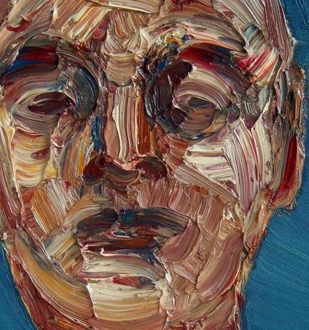 XXXVIII, aprile 2007, particolare; olio su tela, 31x39 cm.