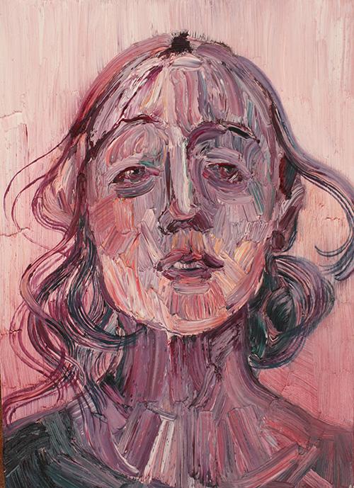 Ex-sisto, sinfonia rosa, 2015; olio su tela, 30x40cm ciascuno